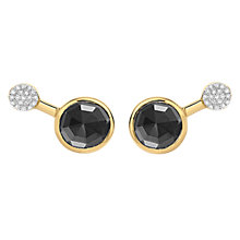Buy Missoma 18ct Gold Vermeil Cosmic Orbit Round Hematite and Zircon Pave Stud Earrings, Gold/Black Online at johnlewis.com
