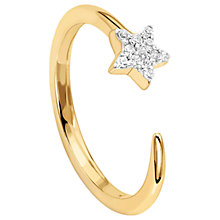 Buy Missoma 18ct Gold Vermeil Cosmic Nova Pave Star Ring, Gold Online at johnlewis.com