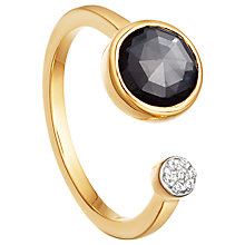 Buy Missoma 18ct Gold Vermeil Double Orbit Hematite and Zircon Pave Ring, Gold/Black Online at johnlewis.com