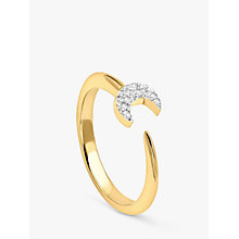 Buy Missoma 18ct Gold Vermeil Eclipse Pave Moon Ring, Gold Online at johnlewis.com