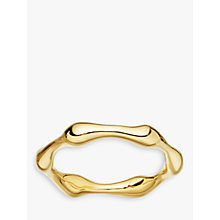 Buy Missoma 18ct Gold Vermeil Molten Ring, Gold Online at johnlewis.com