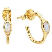 Buy Missoma 18ct Gold Vermeil Mini Magma Moonstone Hoop Earrings, Gold Online at johnlewis.com