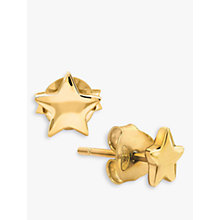 Buy Missoma 18ct Gold Vermeil Star Stud Earrings, Gold Online at johnlewis.com
