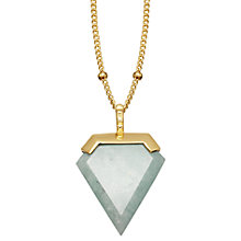 Buy Missoma 18ct Gold Vermeil Shield Pendant Necklace, Amazonite Online at johnlewis.com