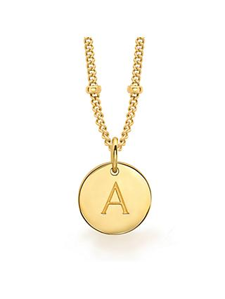 Missoma 18ct Gold Vermeil Initial Pendant Necklace
