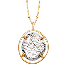 Buy Missoma 18ct Gold Vermeil Slice Pendant Necklace, Black Rutilated Quartz Online at johnlewis.com