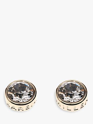 Karen Millen Logo Stud Earrings