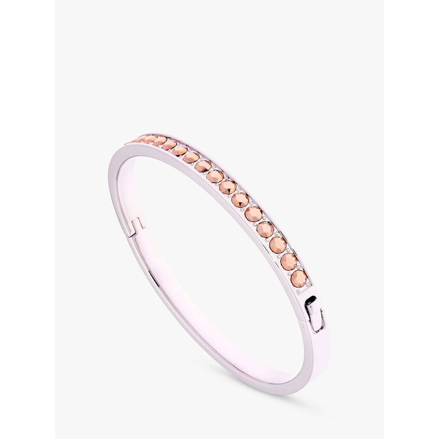 BuyTed Baker Clemara Swarovski Crystal Bangle, Silver/Rose Online at johnlewis.com