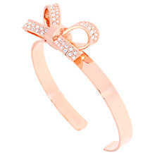 Buy Ted Baker Olexaa Swarovski Crystal Bow Cuff, Rose Gold Online at johnlewis.com