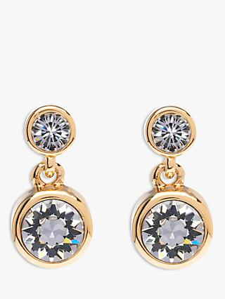 Karen Millen Swarovski Crystal Dot Drop Earrings
