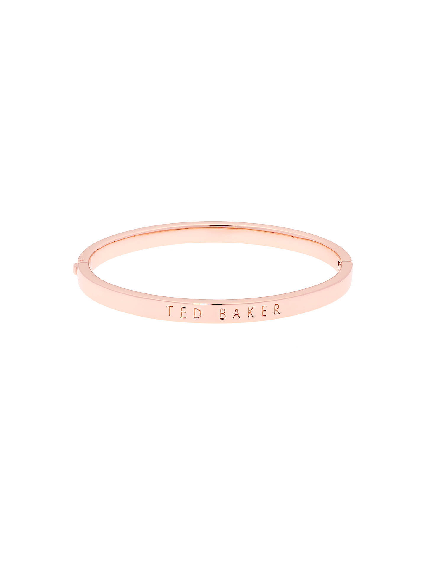 Ted Baker Clemina Hinged Bangle Rose Gold Online At Johnlewis