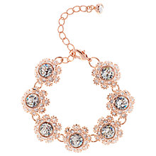 Buy Ted Baker Seah Swarovski Crystal Daisy Lace Bracelet, Rose Gold Online at johnlewis.com