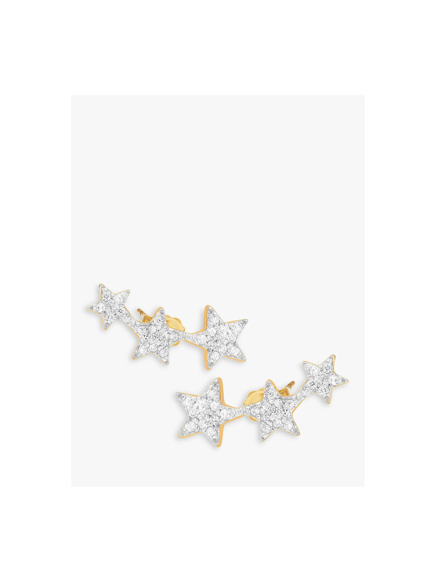 Missoma 18ct Gold Vermeil Pave Star Cosmic Stud Earrings Online At Johnlewis