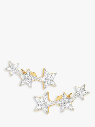 Missoma 18ct Gold Vermeil Pave Star Cosmic Stud Earrings, Gold