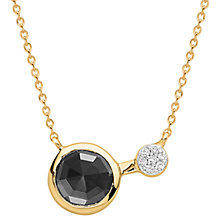 Buy Missoma 18ct Gold Vermeil Cosmic Orbit Round Hematite and Zircon Pave Pendant Necklace, Gold/Black Online at johnlewis.com