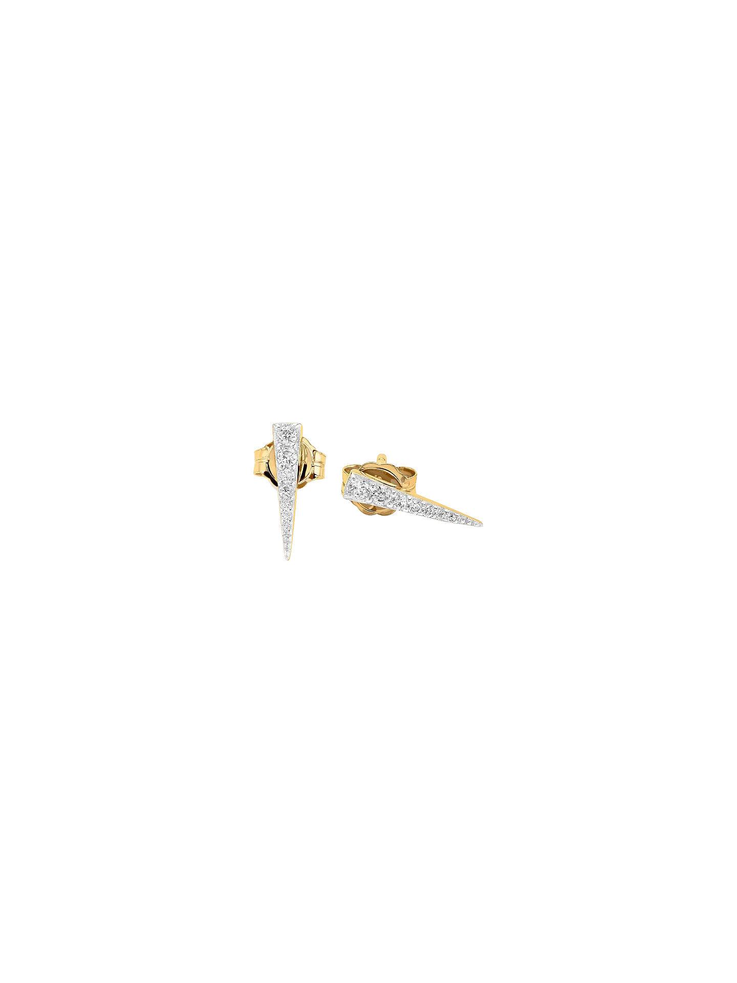 e658ed539 Buy Missoma Pave Long Dagger Stud Earrings, Gold Online at johnlewis.com ...