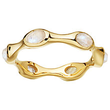 Buy Missoma 18ct Gold Vermeil Magma Rainbow Moonstone Ring, Gold Online at johnlewis.com