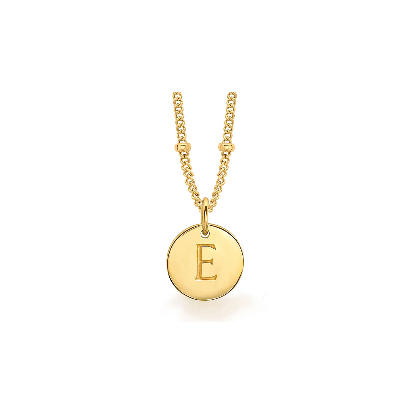 Missoma 18ct gold vermeil initial pendant necklace at john lewis buymissoma 18ct gold vermeil initial pendant necklace e online at johnlewis mozeypictures Image collections