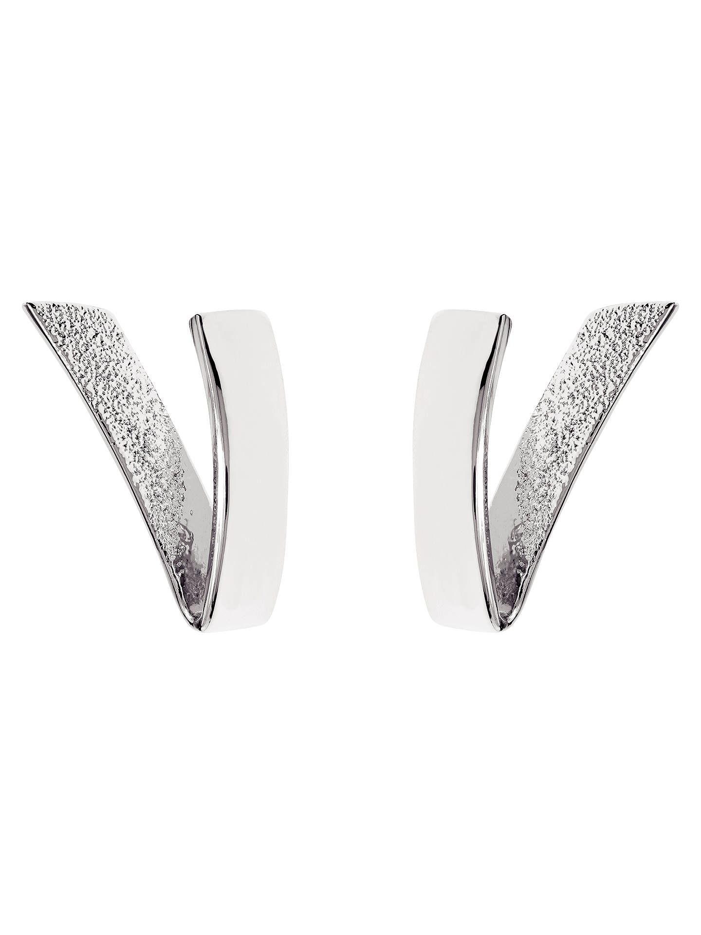 1debc90b417e0 Karen Millen Folded Stud Earrings, Silver