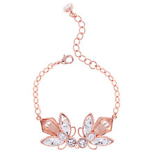 Buy Ted Baker Genfer Geometric Bee Chain Bracelet, Rose Gold Online at johnlewis.com