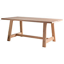 Buy Hudson Living Kielder 6 Seater Dining Table, Oak Online at johnlewis.com