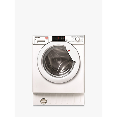 Hoover HBWD7514DA Integrated Washer Dryer, 7kg Wash/5kg Dry Load, A Energy Rating, 1400rpm Spin, White