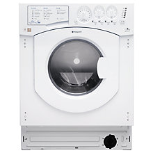 Buy Hotpoint BHWD149 Aquarius Integrated Washer Dryer, 7kg Wash/5kg Dry Load, B Energy Rating, 1400rpm Spin, White Online at johnlewis.com