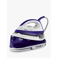 Buy Tefal Fasteo SV6020 Steam Generator Iron, Purple/White Online at johnlewis.com