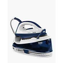 Buy Tefal Fasteo SV6040 Steam Generator Iron, Blue/White Online at johnlewis.com