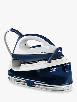 Tefal Fasteo SV6040 Steam Generator Iron, Blue/White