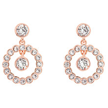 Buy Ted Baker Corali Concentric Swarovski Crystal Drop Earrings Online at johnlewis.com