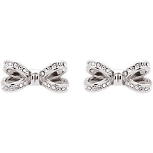Buy Ted Baker Olitta Mini Pave Swarovski Crystal Bow Stud Earrings Online at johnlewis.com