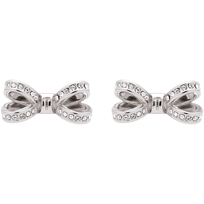 Ted Baker Olitta Mini Pave Swarovski Crystal Bow Stud Earrings Silver Online At Johnlewis