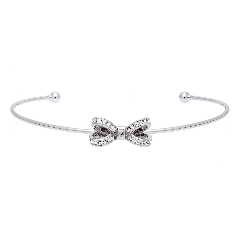 BuyTed Baker Olexii Swarovski Crystal Bow Cuff, Silver Online At  Johnlewis.com ...