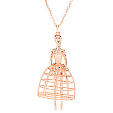 Buy Ted Baker Peige Swarovski Crystal Ballerina Pendant Necklace, Rose Gold Online at johnlewis.com