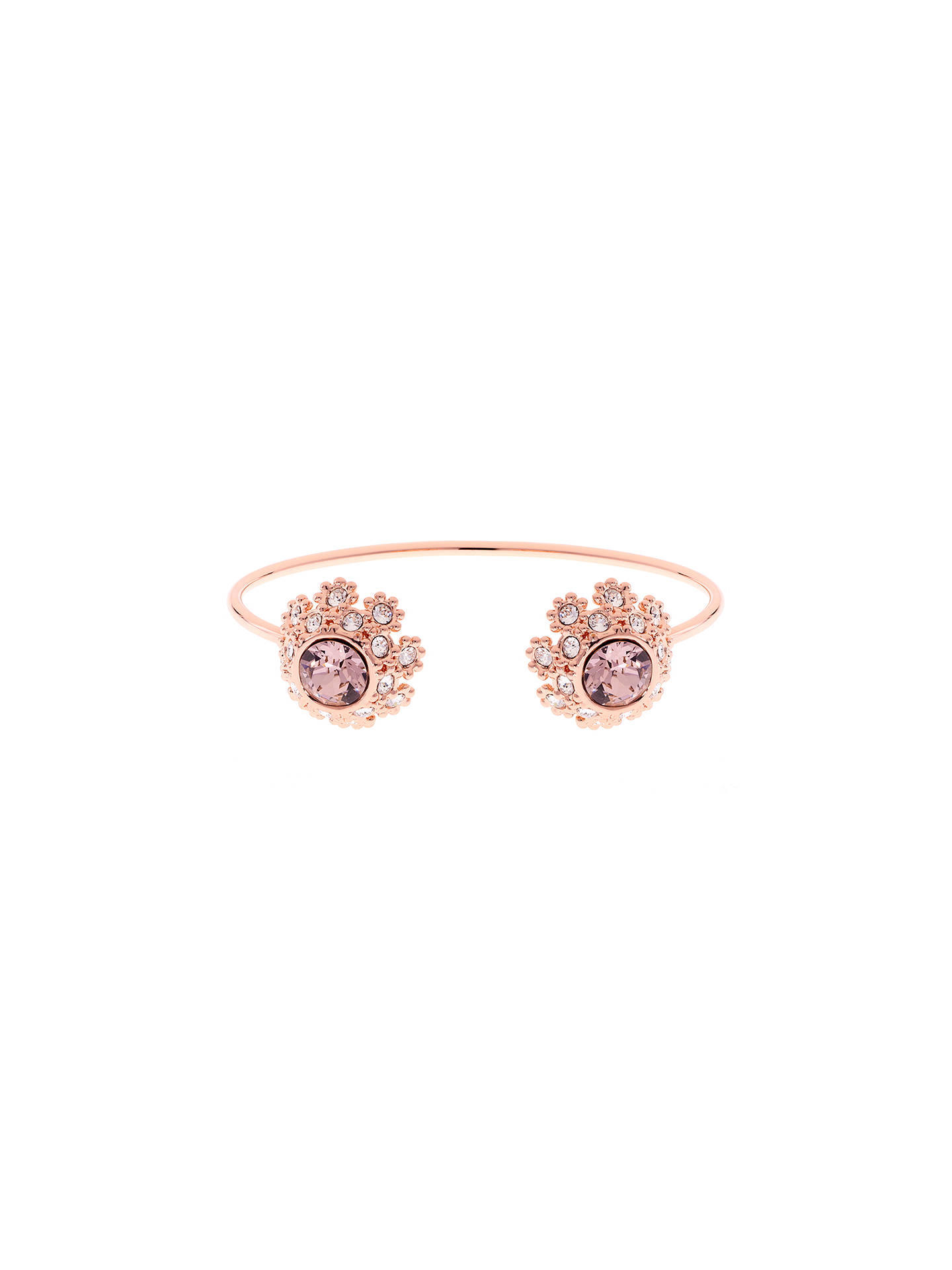 BuyTed Baker Seniie Swarovski Crystal Daisy Lace Cuff, Rose Gold Online at johnlewis.com