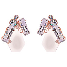 Buy Ted Baker Patiaa Swarovski Crystals Stone Clip-On Earrings Online at johnlewis.com