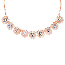 Buy Ted Baker Siero Swarovski Crystal Daisy Lace Pendant Necklace, Rose Gold Online at johnlewis.com