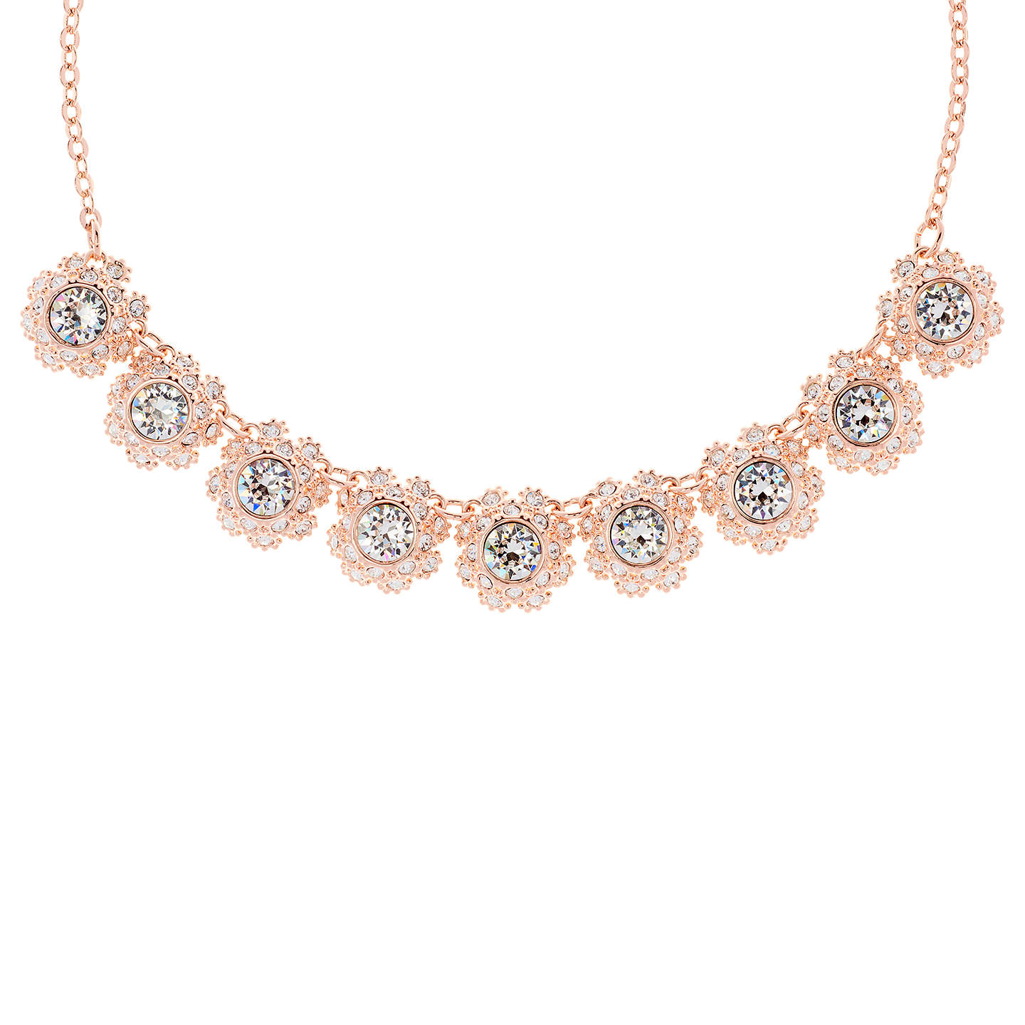 BuyTed Baker Siero Swarovski Crystal Daisy Lace Necklace, Rose Gold Online  At Johnlewis.com ...
