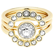 Buy Ted Baker Cadyna Concentric Crystal Ring, Pale Gold/Clear Online at johnlewis.com