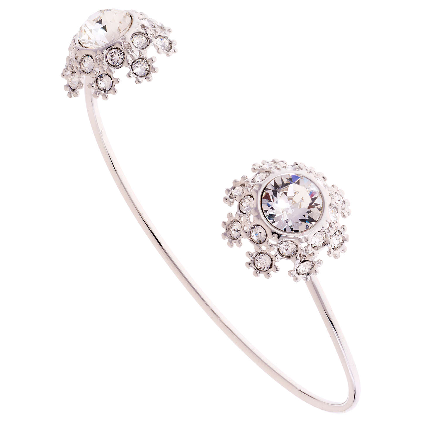 BuyTed Baker Seniie Swarovski Crystal Daisy Lace Cuff, Silver Online At  Johnlewis.com ...