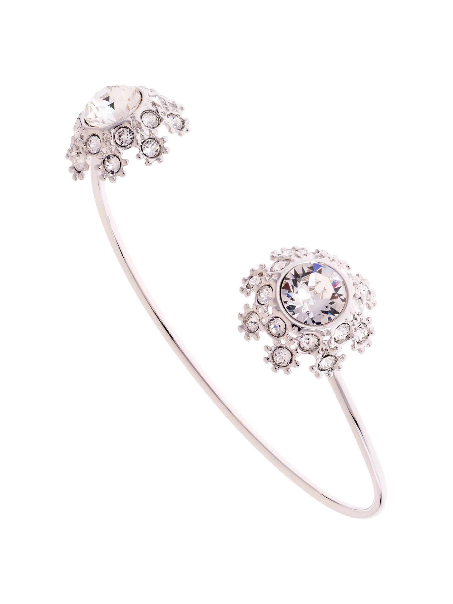 BuyTed Baker Seniie Swarovski Crystal Daisy Lace Cuff, Silver Online at johnlewis.com