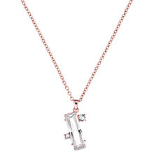 Buy Ted Baker Blaeke Swarovski Crystal Pendant Necklace, Rose Gold Online at johnlewis.com
