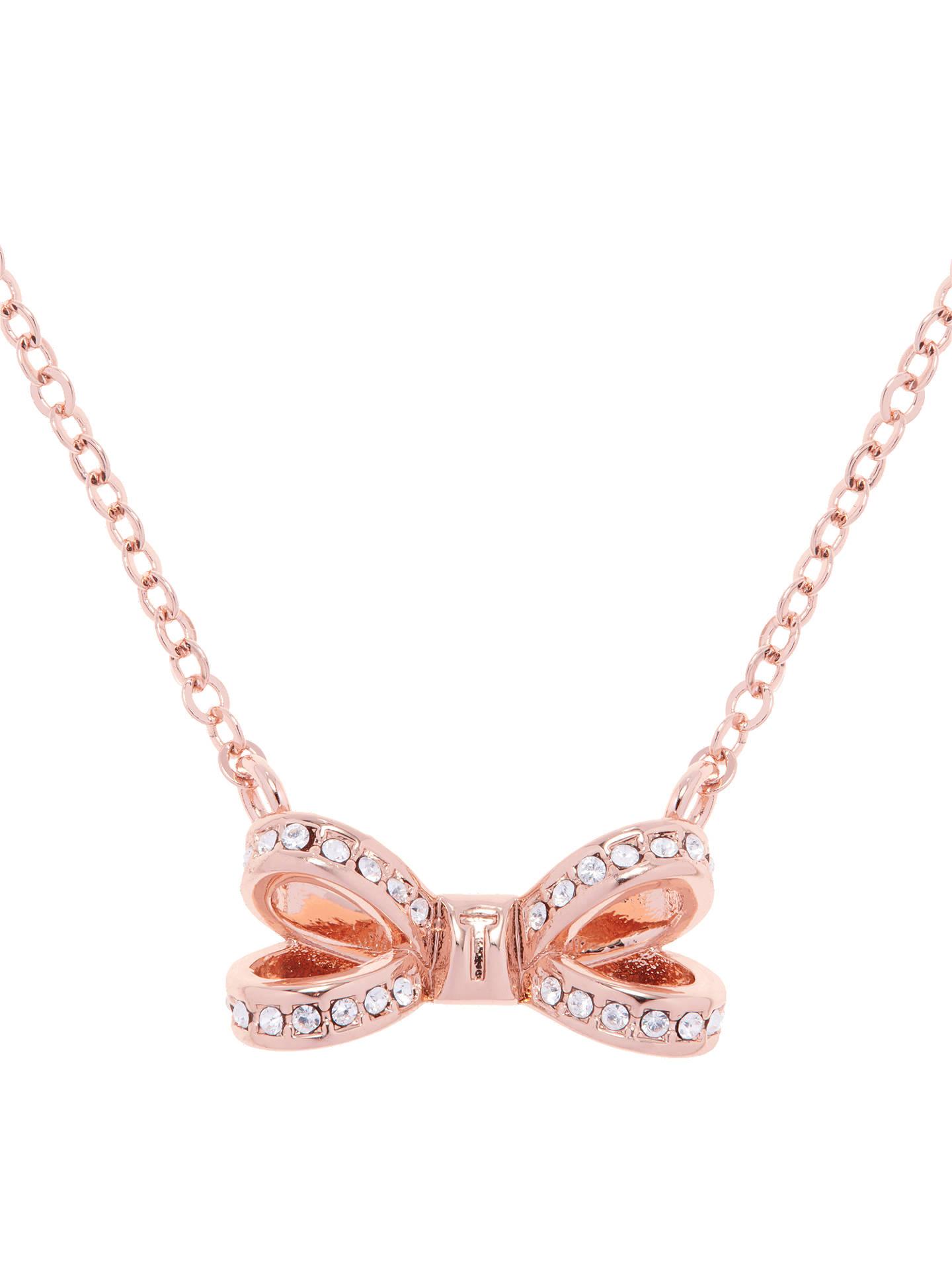 2f4df1dc0467 Buy Ted Baker Olira Swarovski Crystal Bow Pendant Necklace