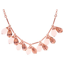 Buy Ted Baker Polina Mini Plisse Swarovski Crystal Necklace, Rose Gold Online at johnlewis.com