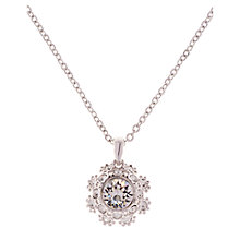 Buy Ted Baker Sirou Swarovski Crystal Daisy Lace Pendant Necklace Online at johnlewis.com