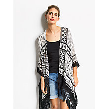 Buy hush Beach Kimono, Black/White Online at johnlewis.com