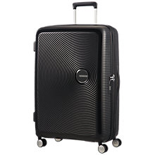 Buy American Tourister Soundbox 4-Wheel 77cm Suitcase, Black Online at johnlewis.com