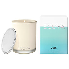Buy Ecoya Lotus Flower Candle Online at johnlewis.com