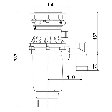Buy Franke Turbo Elite TE-75S Slimline Waste Disposal Unit